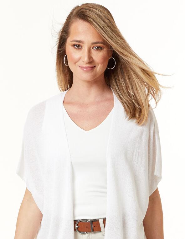 Crepe Kimono, White, hi-res