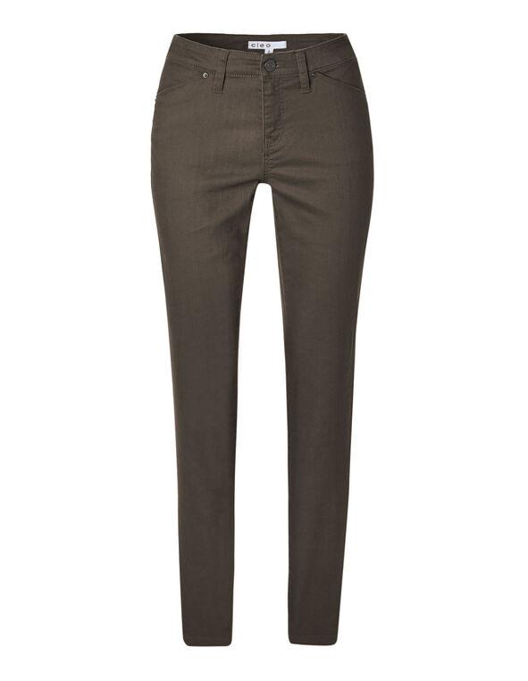 Taupe Slim Leg Jean, Taupe, hi-res