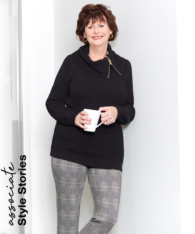 Associate Style Black Sweater Look,