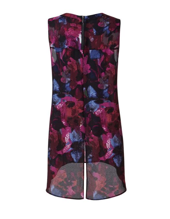 Sangria Blur Printed Tunic Blouse, Sangria, hi-res