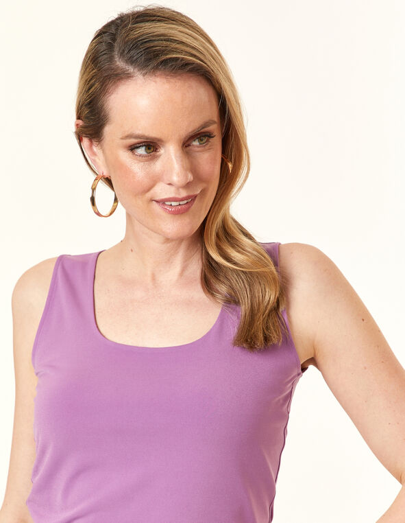 Violet Essential Layering Tank, Purple/Violet, hi-res