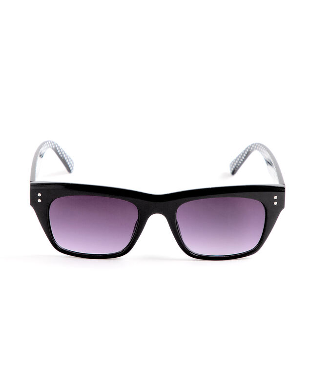 Black Rectangular Sunglasses, Black