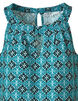 Turquoise Ornate Crepe Top, Turquoise, hi-res