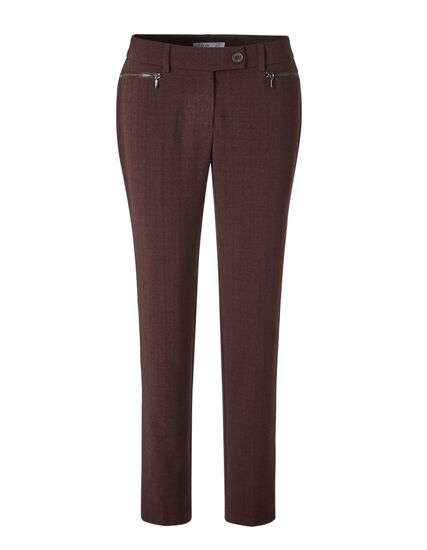 Brick Favourite Slim Leg Pant, Brick, hi-res