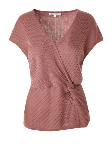 Dusty Pink Knotted Pullover, Dusty Pink, hi-res