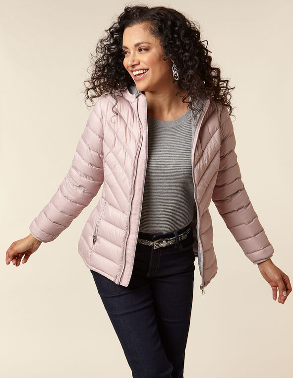 Blush Packable Down Puffer, Pink/Blush, hi-res