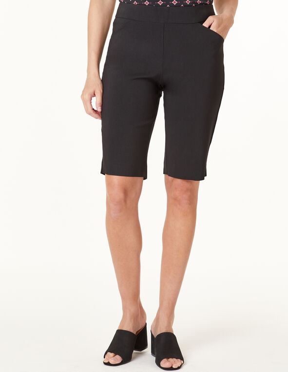 Black Pull On Short, Black, hi-res