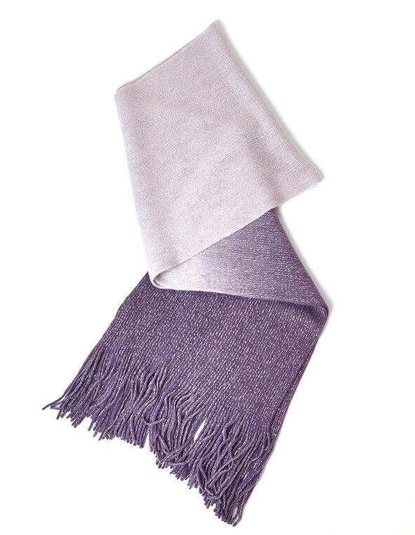 Purple Ombre Oblong Scarf, Purple, hi-res