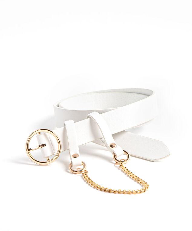 White Removable Chain Belt, White