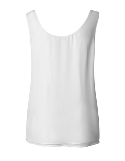 White Reversible Neck Blouse, White, hi-res