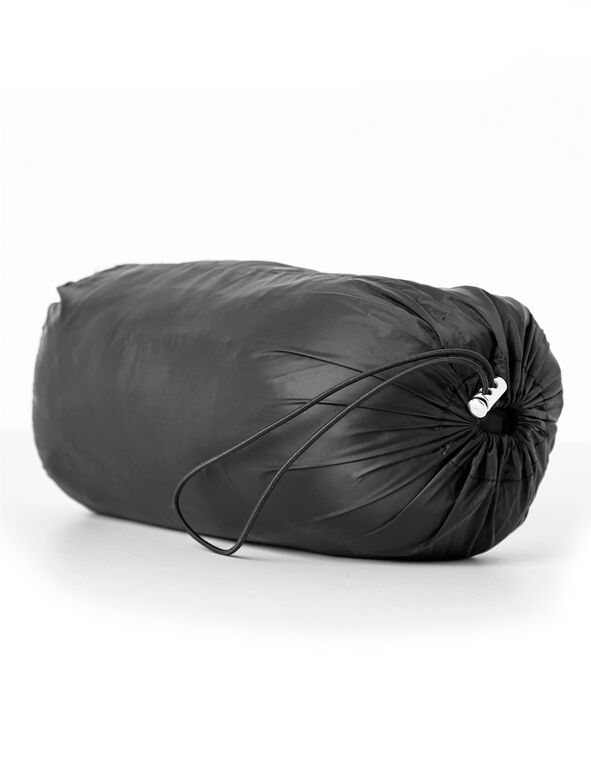Black Packable Down Jacket, Black, hi-res