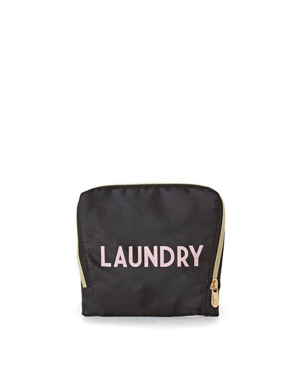 Expandable Laundry Pouch, Black, hi-res