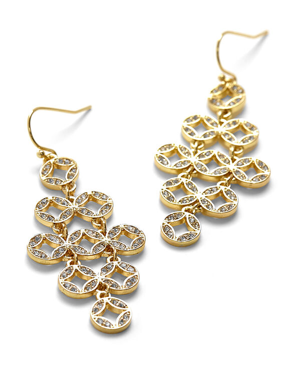 Gold Statement Earring, Gold, hi-res
