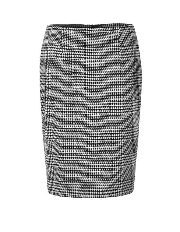 Houndstooth Pencil Skirt, Houndstooth, hi-res
