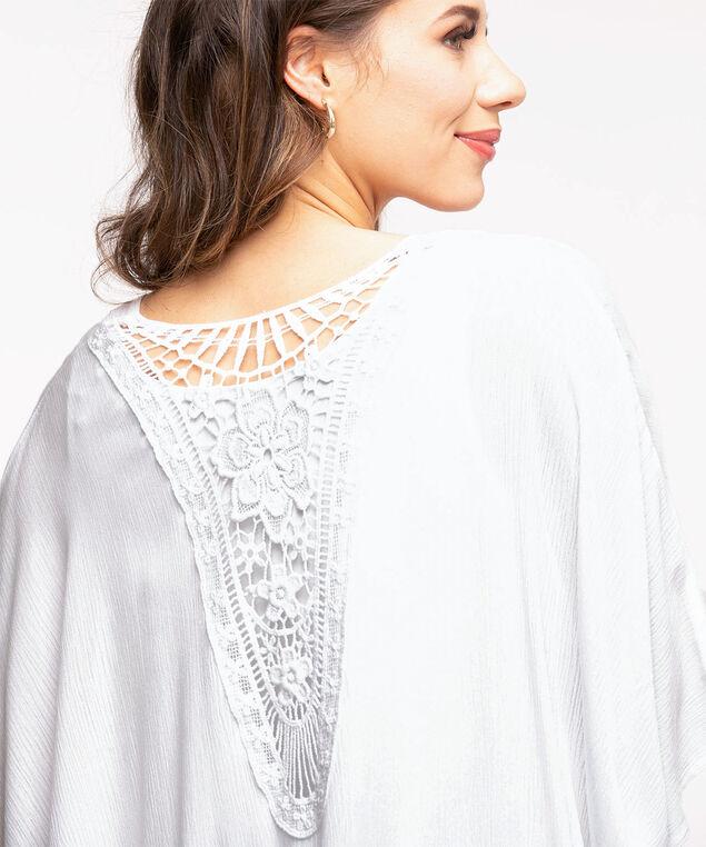 White Crochet Kimono, White