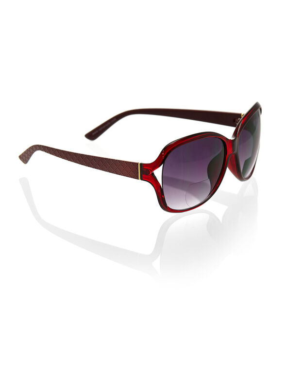 Red Large Frame Bi-Focal Sun Readers, Red, hi-res