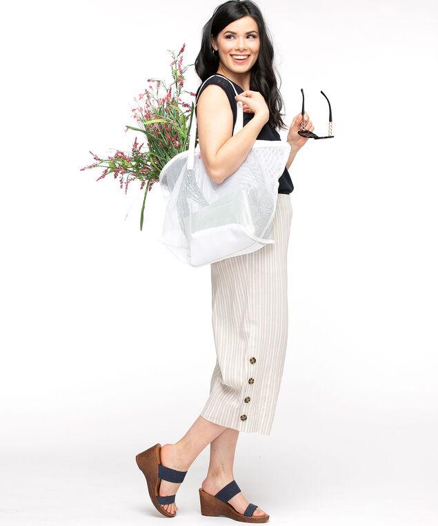 Mesh Tote Bag, White