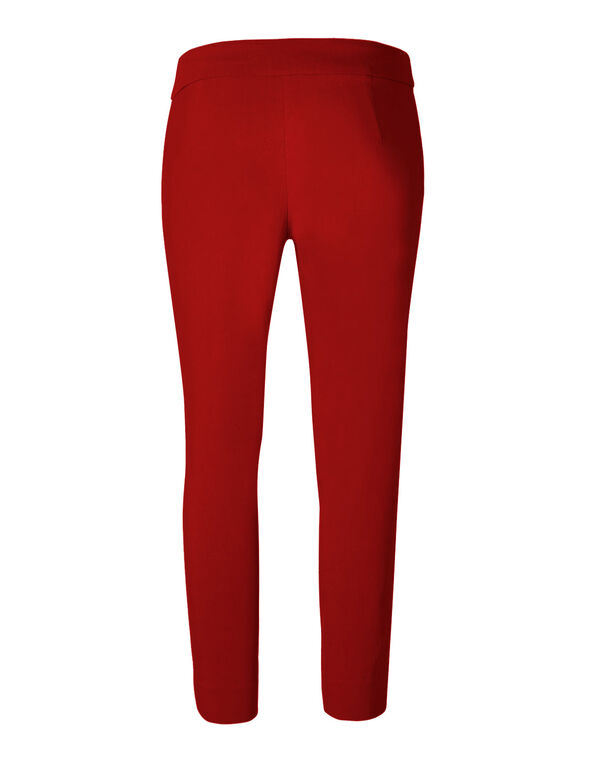 Red Ankle Pull On Pant, Red, hi-res