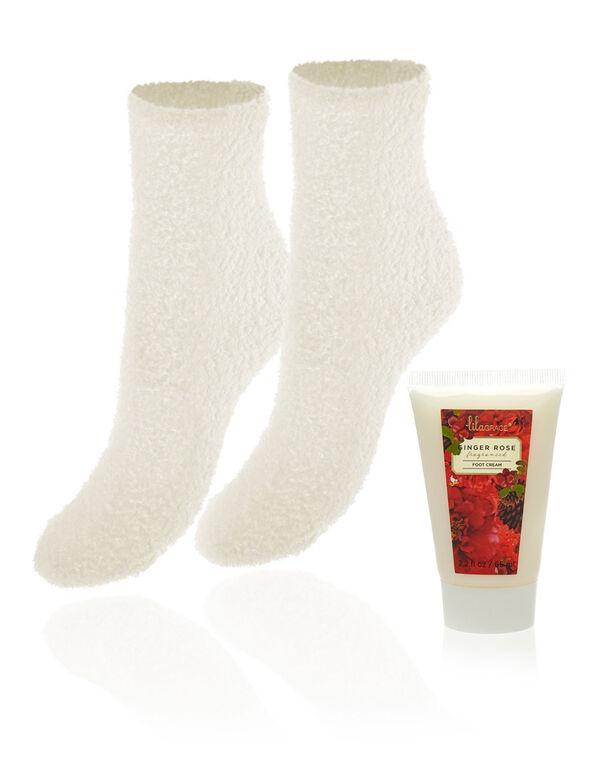 Ginger Rose Cream Sock Set, Ivory, hi-res