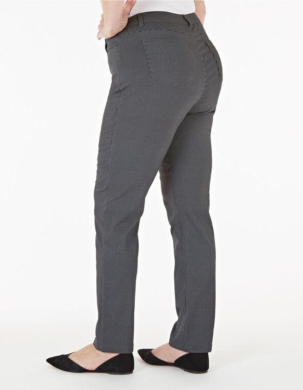 Grey Curvy Houndstooth 5-Pocket Pant, Grey, hi-res