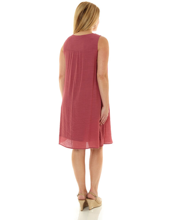 Rose Gauze A-Line Dress, Rose, hi-res