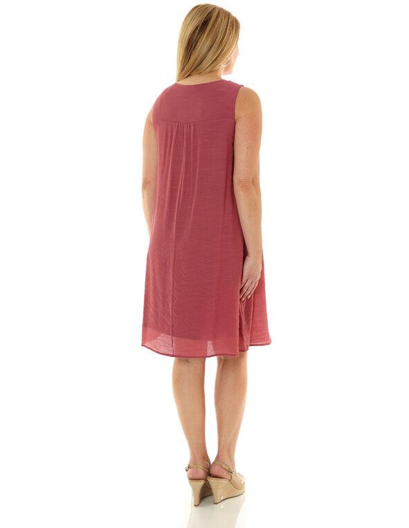 Rose Gauze A-Line Dress, Rose, hi-res