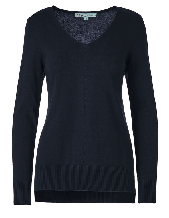 Navy Pullover Sweater, Navy, hi-res