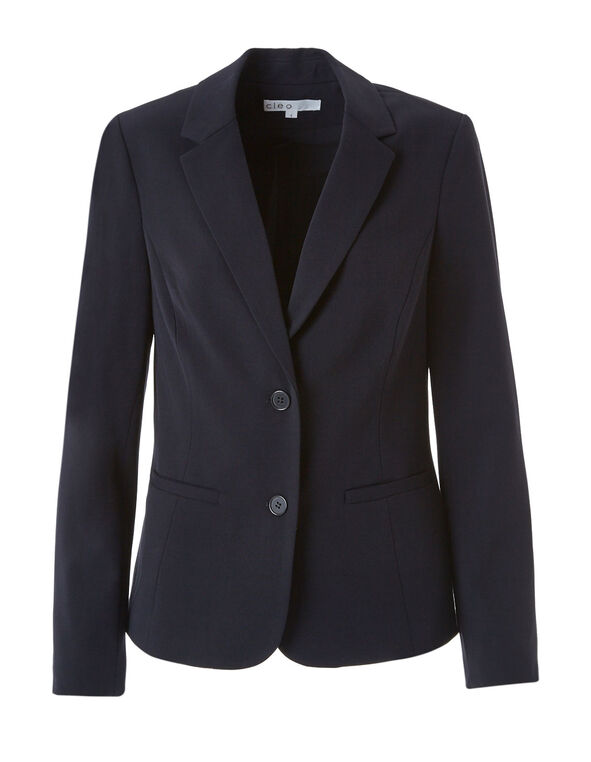 Navy Structured Blazer, Navy, hi-res