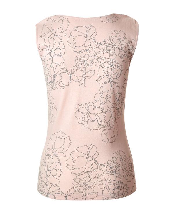 Misty Rose Lace Shoulder Cotton Tee, Misty Rose, hi-res