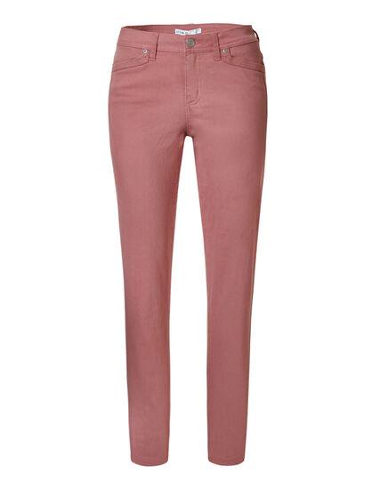 Misty Rose Cotton Slim Leg Jean, Rose, hi-res