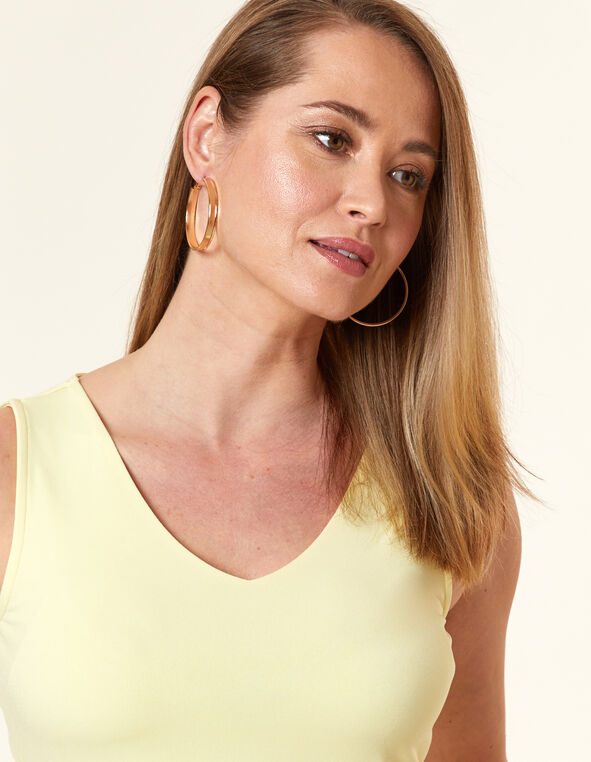 Citrus Essential Layering Tank, Yellow/Citrus, hi-res