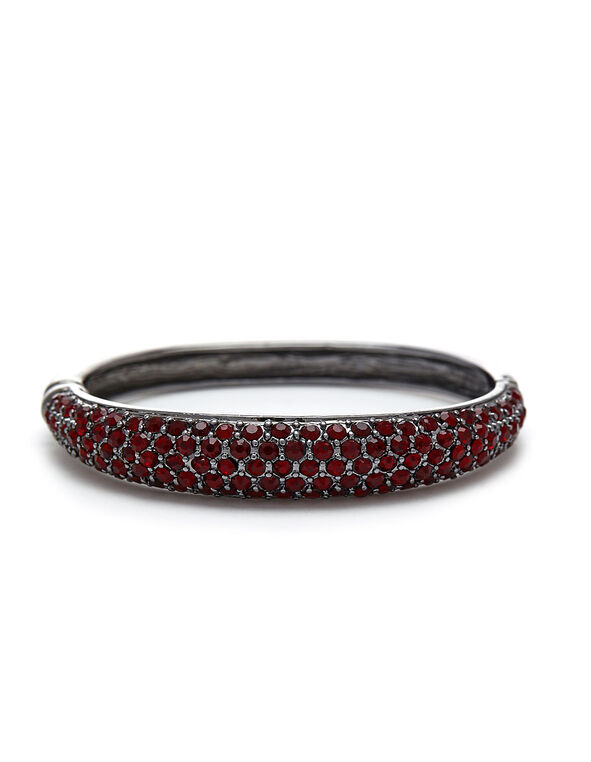 Ruby Crystal Hinge Bracelet, Red, hi-res