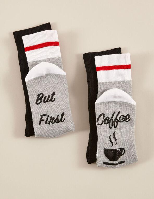 Black & Grey Sock Pack, Grey/Black, hi-res