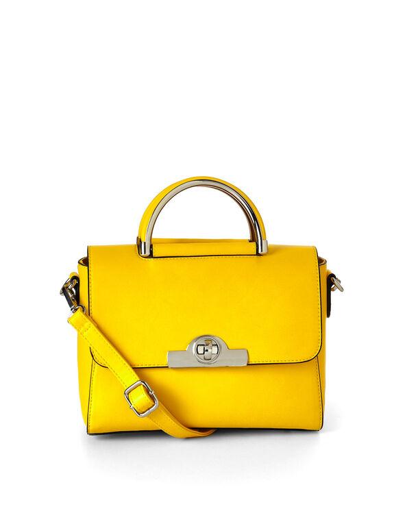Yellow Small Handbag, Yellow, hi-res