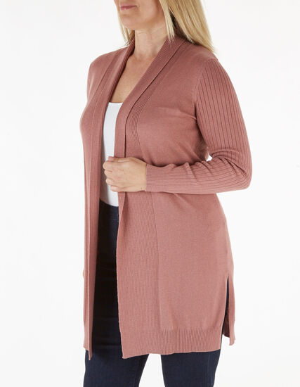 Rose Essential Long Cardigan, Rose, hi-res