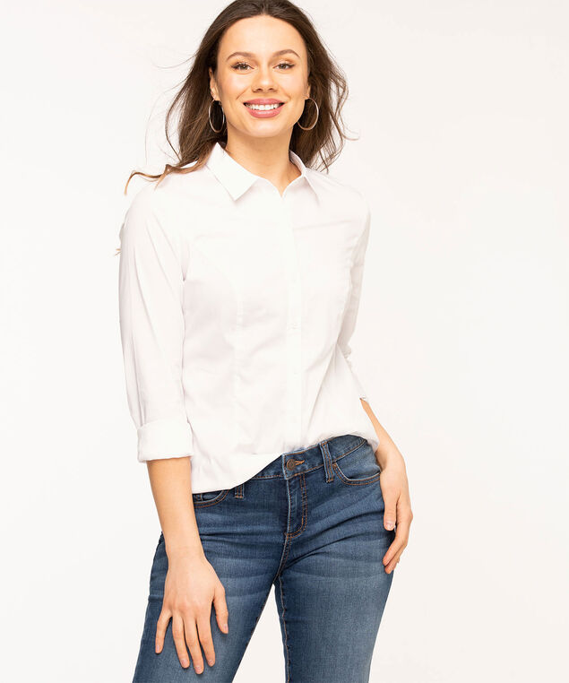 White Collared Structured Blouse, White