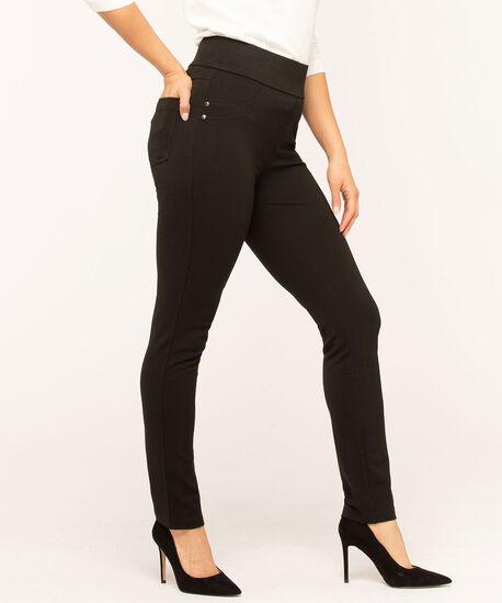 Black Back Pocket Legging, Black, hi-res