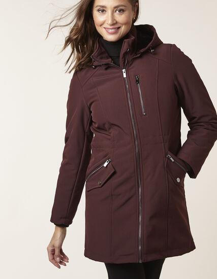 Merlot Soft Shell Anorak Coat, Merlot, hi-res