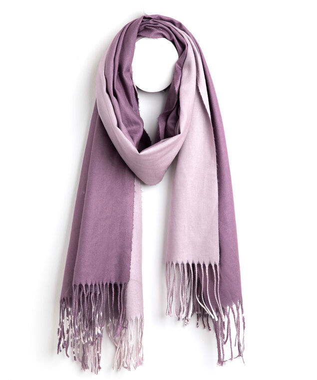 Ombre Fringe Scarf, Dusty Purple