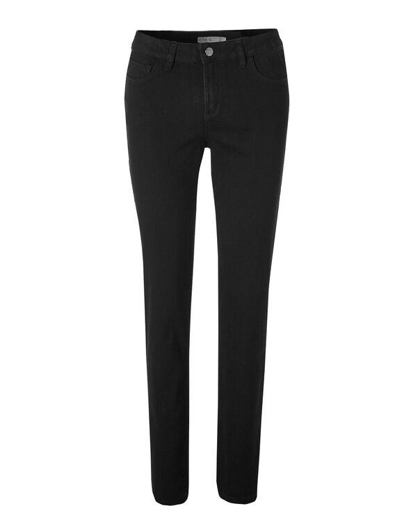 Black Slim Leg Jean, Black, hi-res