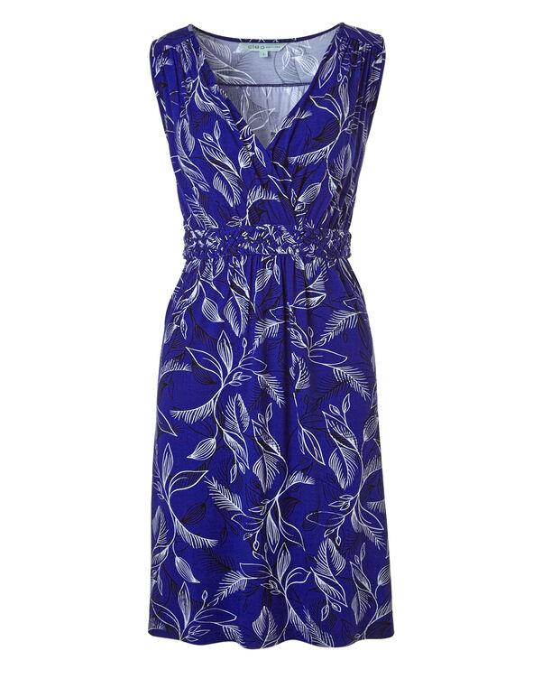 Cobalt Floral Summer Dress, Cobalt, hi-res