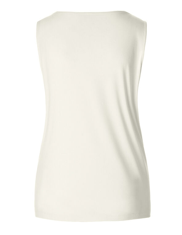 V-Neck Essential Layering Top, Ivory, hi-res