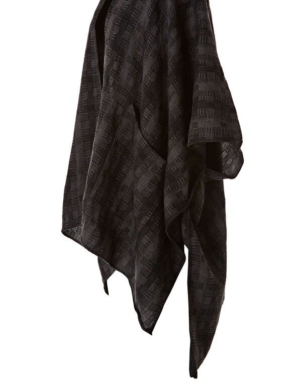 Abstract Grey Checkered Wrap, Grey, hi-res