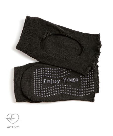 Toeless Anti-Slip Yoga Sock, Black, hi-res