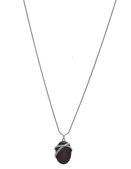 Purple Cat Eye Short Necklace, Purple, hi-res