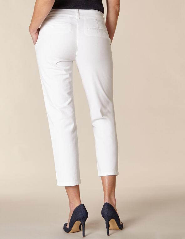 White Chino Slim Ankle Pant, White
