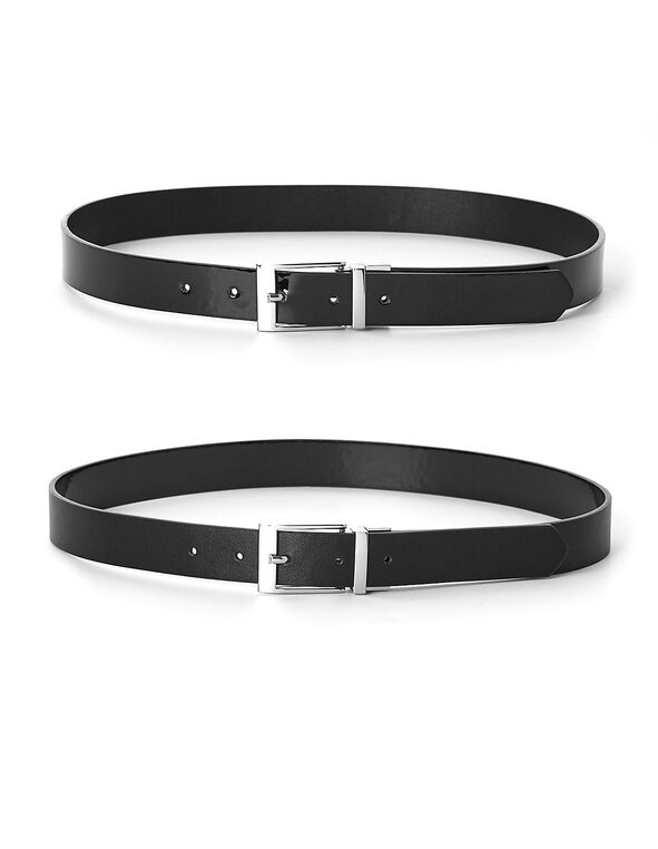 Black Reversible Belt, Black, hi-res