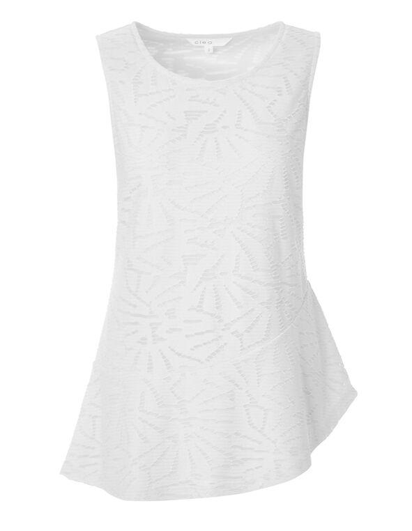 White Asymmetrical Popover Top, White, hi-res
