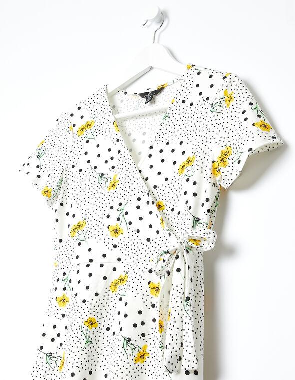 Yellow Daisy Dress, White/Yellow, hi-res