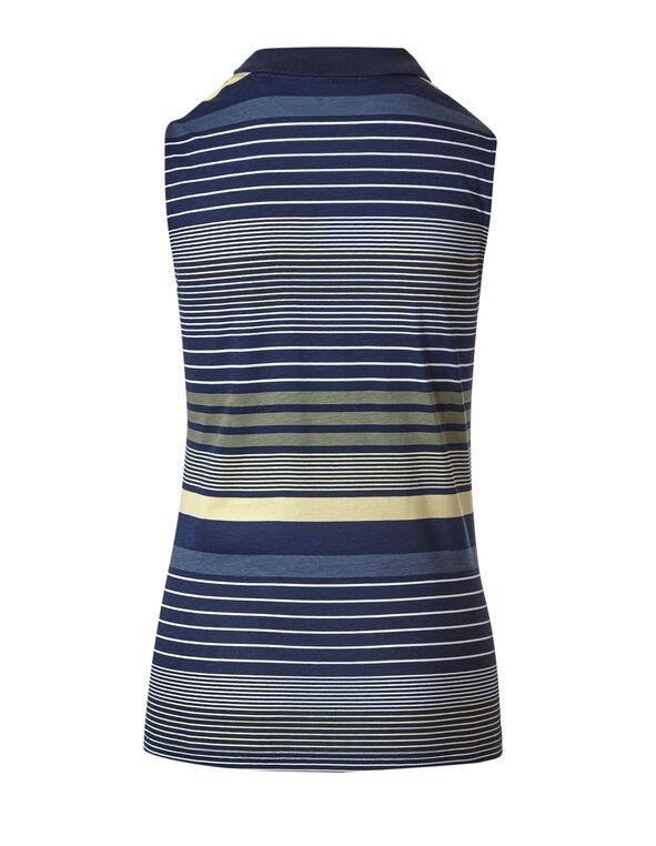 Blue Striped Polo Tee, Blue, hi-res